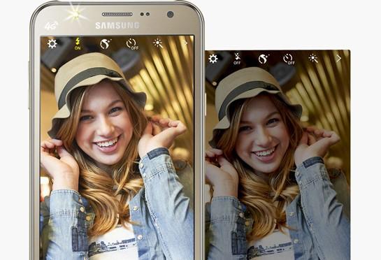 Samsung Galaxy J7 : Front LED Flash Light